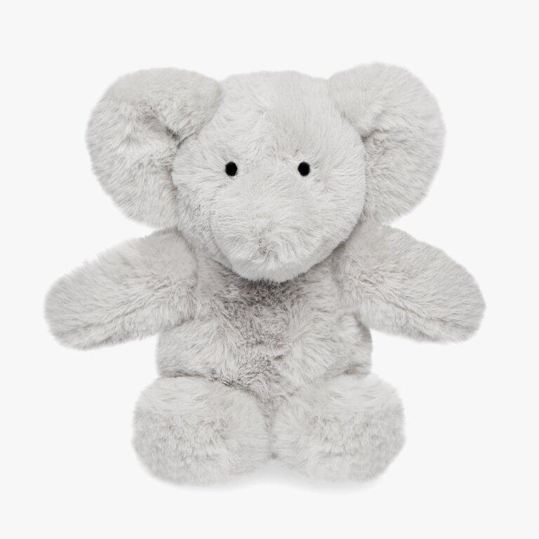 Elephant Baby Toy Happy Birthday In Grey