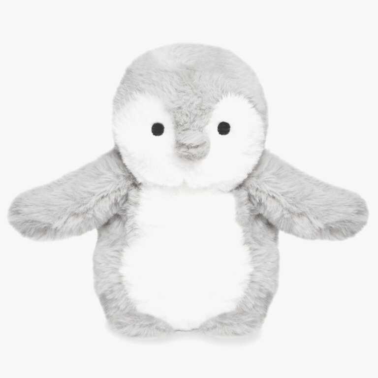 Penguin Baby Toy Merry Christmas In Grey