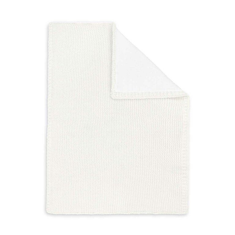 Cotton Knitted Baby Blanket In White