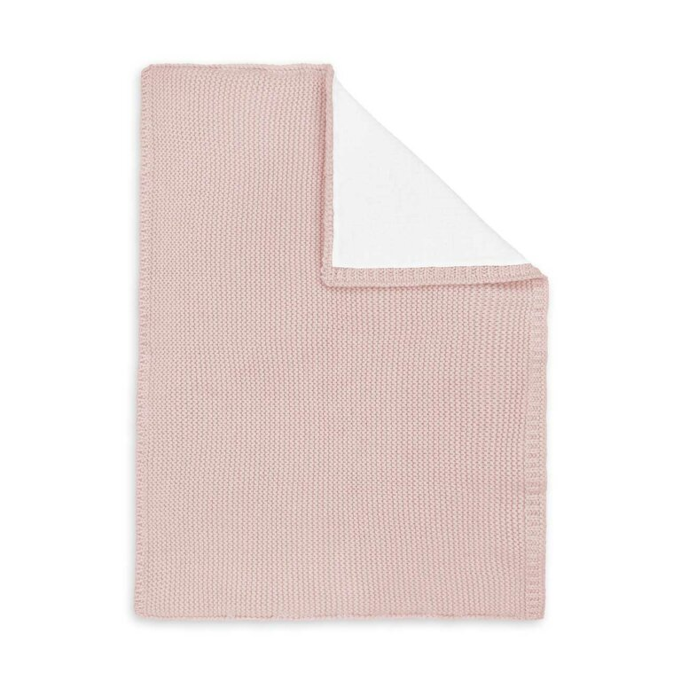 Cotton Knitted Baby Blanket In Pink