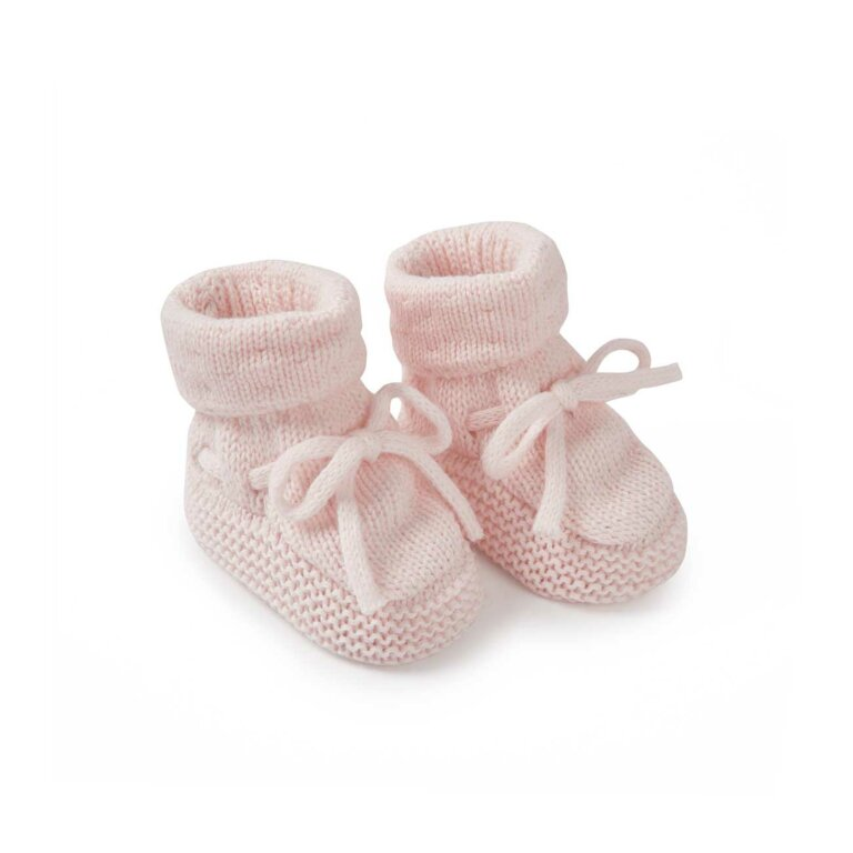 Knitted Baby Boots In Pink
