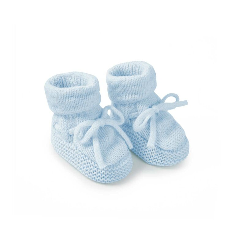 Knitted Baby Boots In Blue