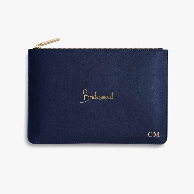Perfect Pouch Bridesmaid In Navy Blue