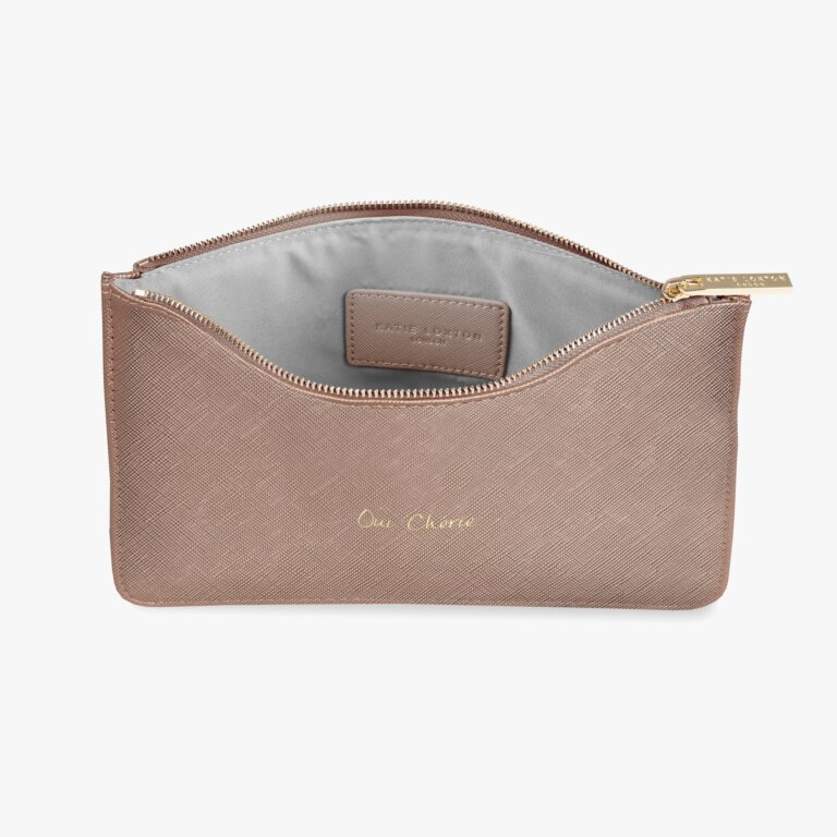 Perfect Pouch Oui Cherie In Bronze