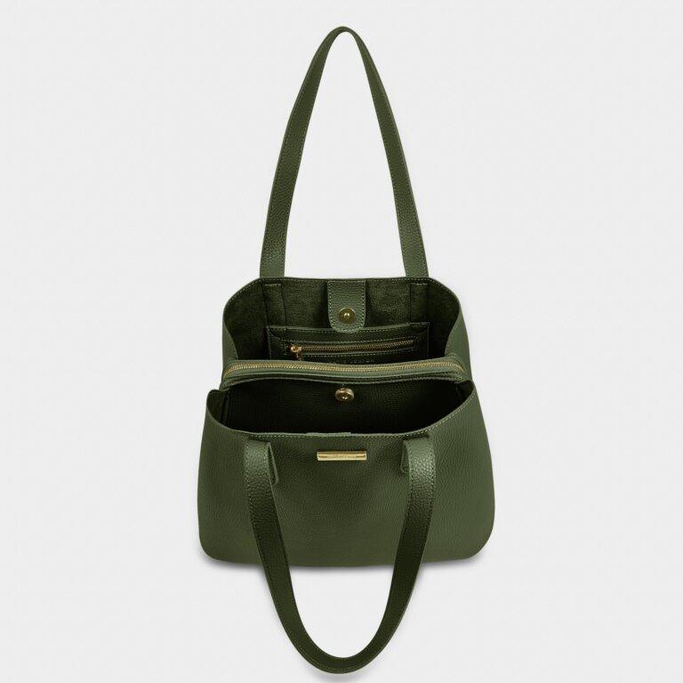 Riley Shoulder Bag In Khaki