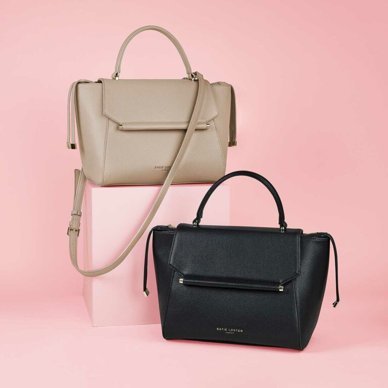 Ava Top Handle Bag In Black