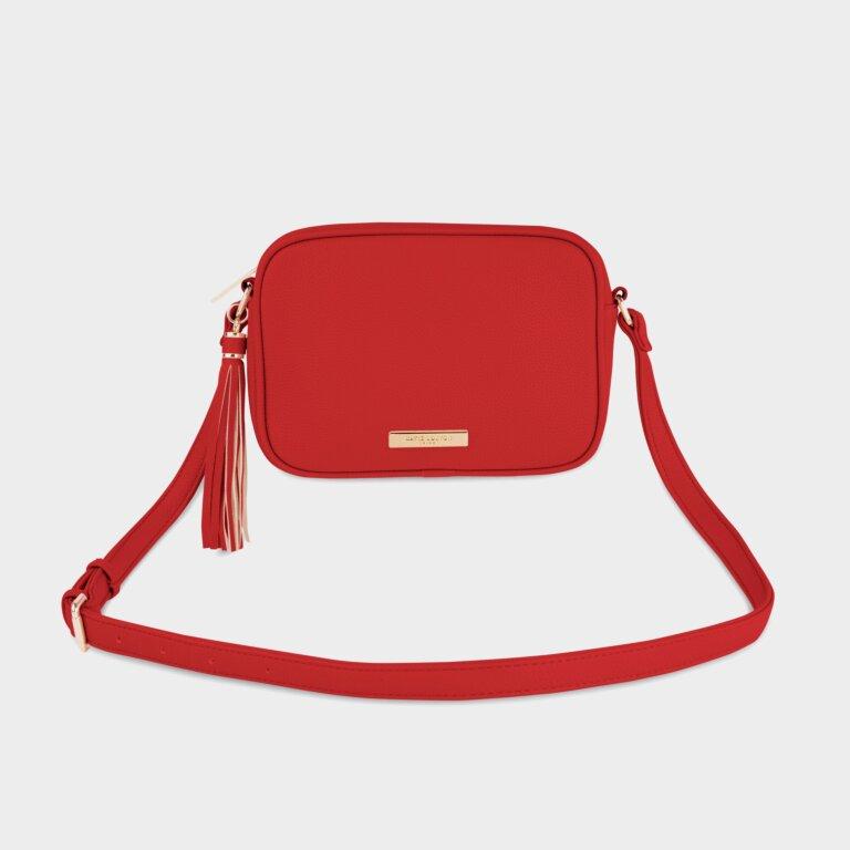 Sophia Tassel Crossbody Bag In  Red