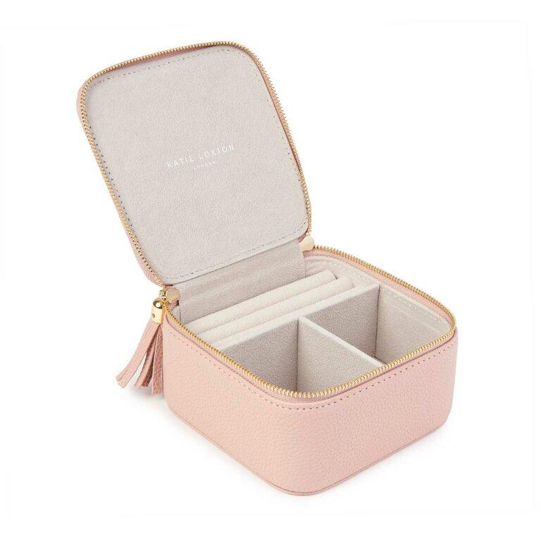Tassel Square Jewellery Box Live Love In  Sparkle Pink