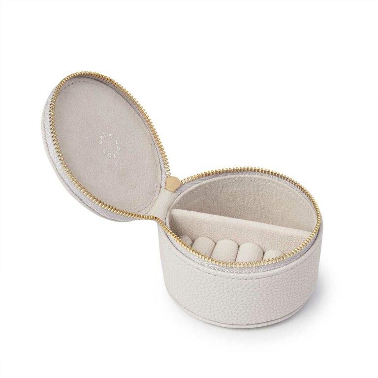 Tassel Small Circle Jewellery Box Sparkle In Grey
