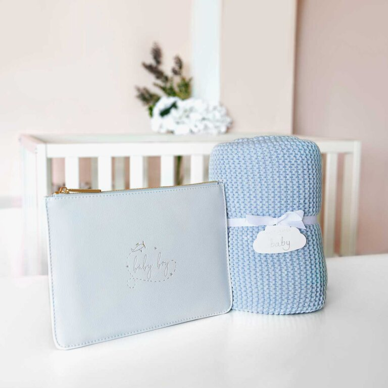 Perfect Pouch Baby Boy In Blue