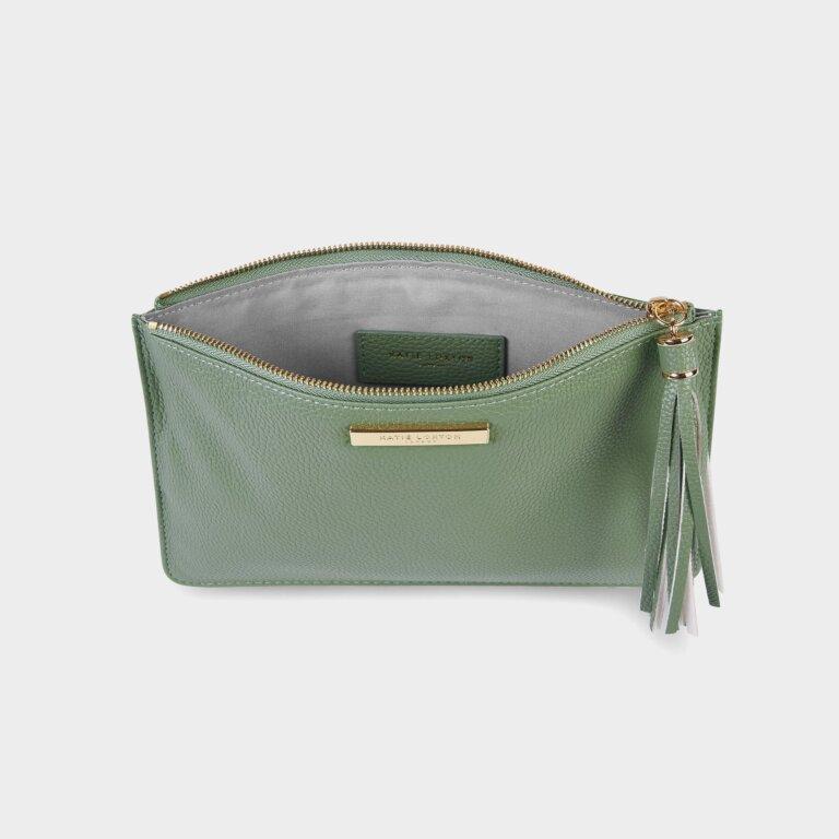 Sophia Tassel Pouch In Mint Green