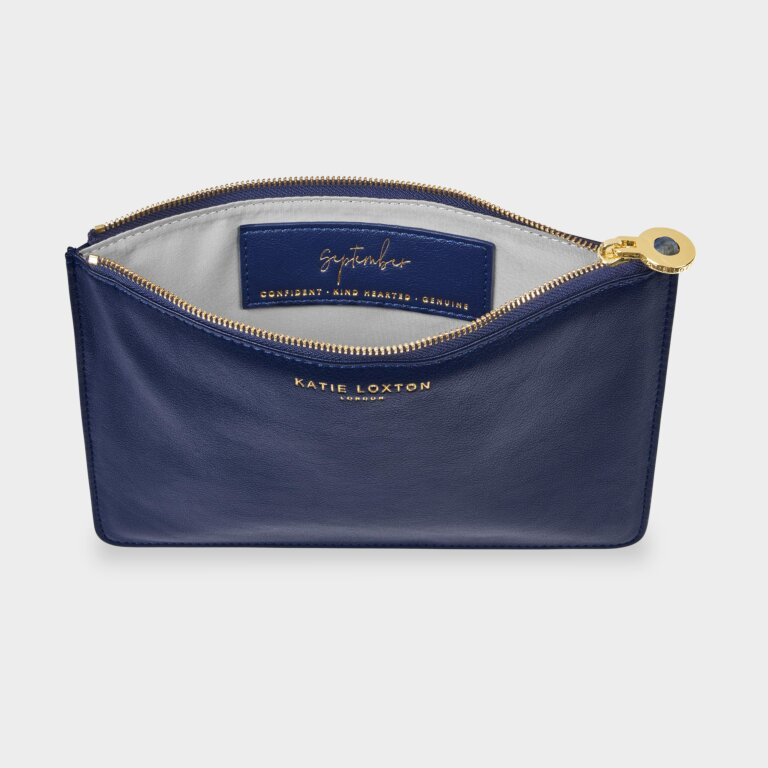 Birthstone Perfect Pouch September Lapis Lazuli In Navy