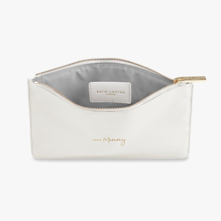 Perfect Pouch Best Mummy In White