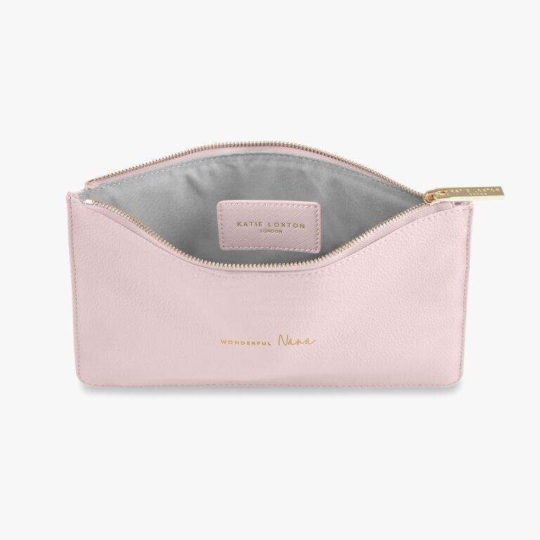 Perfect Pouch Wonderful Nana In Blush Pink