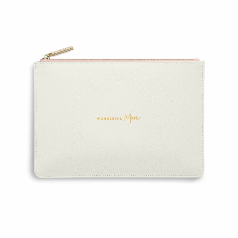 Colour Pop Perfect Pouch Wonderful Mum In Off White And Pink