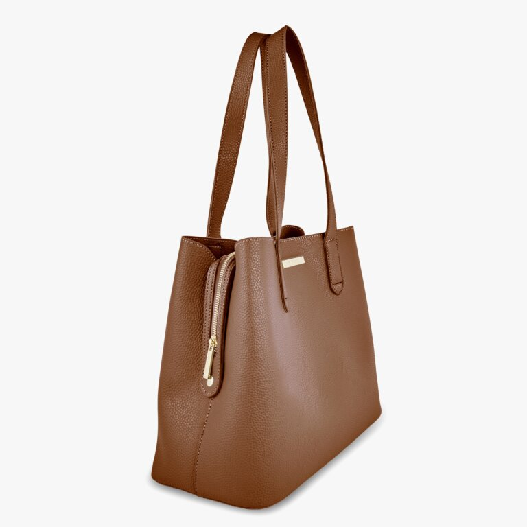 Riley Shoulder Bag In Cognac