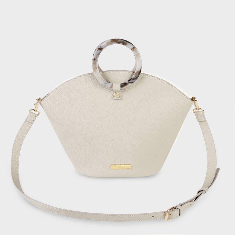 Capri Round Handle Bag In Off White