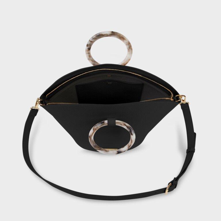Capri Round Handle Bag In Black