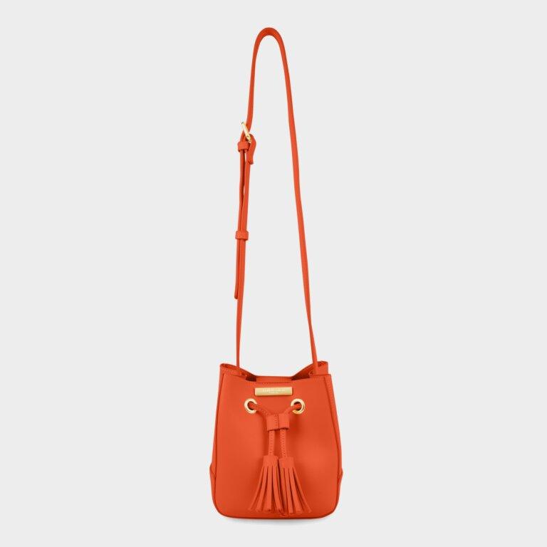 Blair Bucket Bag In Burnt Orange