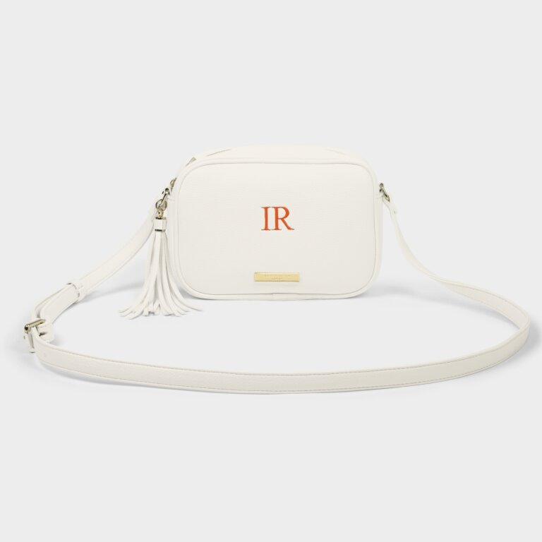 Sophia Tassel Crossbody Bag In Off White