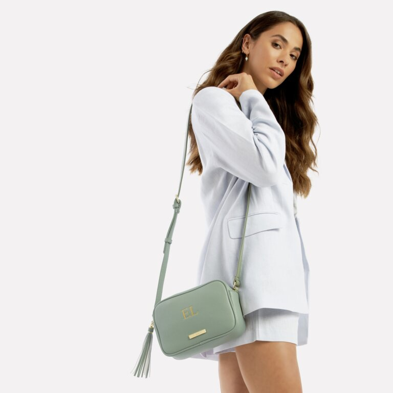 Sophia Tassel Crossbody Bag In Mint Green