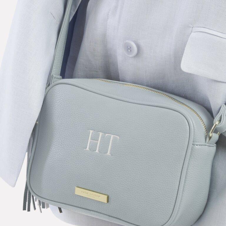 Sophia Tassel Crossbody Bag In Pale Blue
