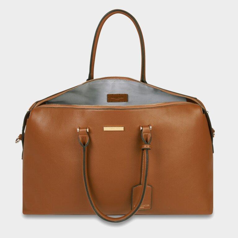 Kensington Weekend Bag In Cognac