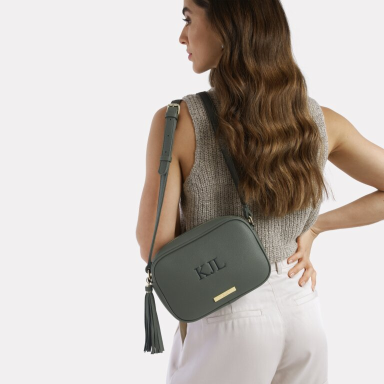 Sophia Tassel Bag Sustainable Style In Khaki