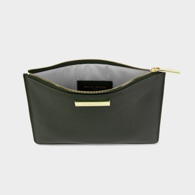 Soft Pebble Pouch Sustainable Style In Khaki