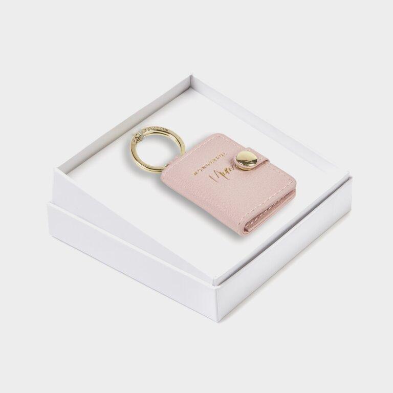 Beautifully Boxed Photo Keyring Wonderful Mum In Blush Pink