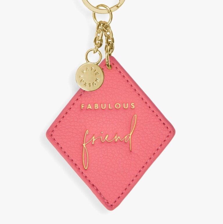 Chain Keyring Fabulous Friend Pink