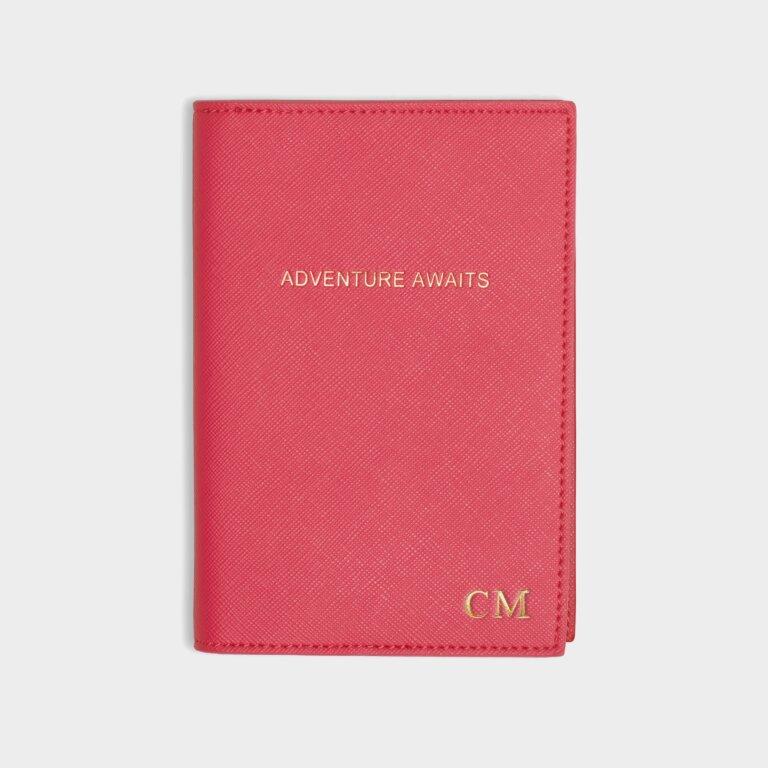 Passport Cover Adventure Awaits In Fuchsia Pink