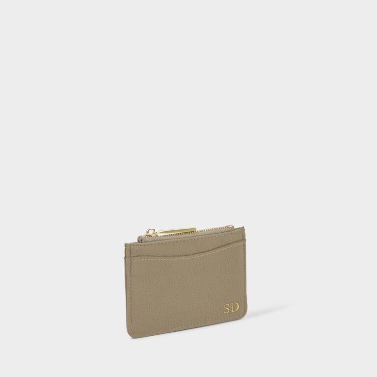 Cara Cardholder in Taupe