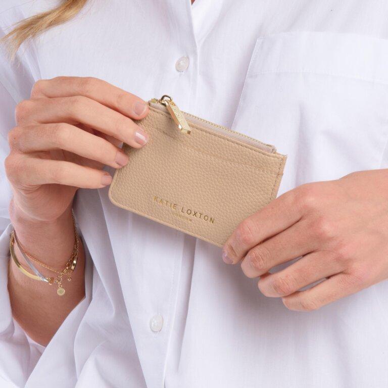 Cara Cardholder in Pale Pink