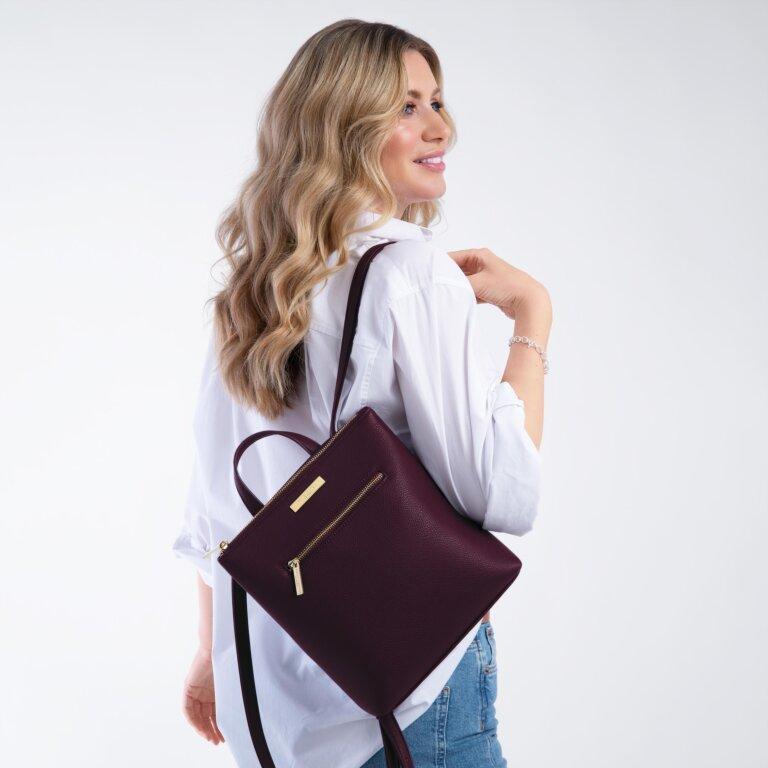 Mini Brooke Backpack in Plum