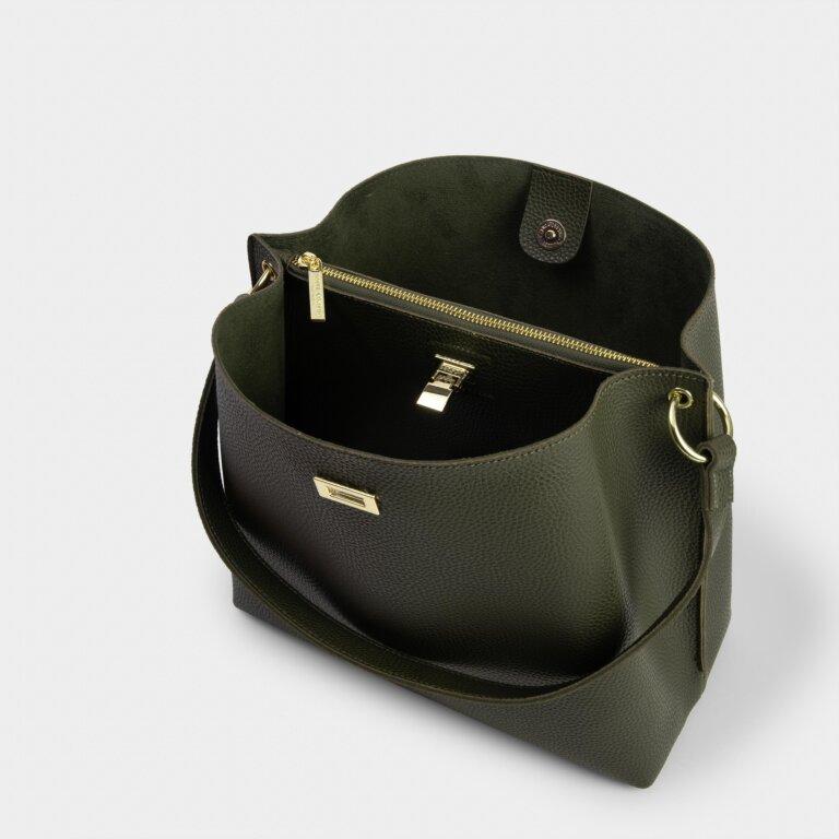 Reese Shoulder Bag in Khaki