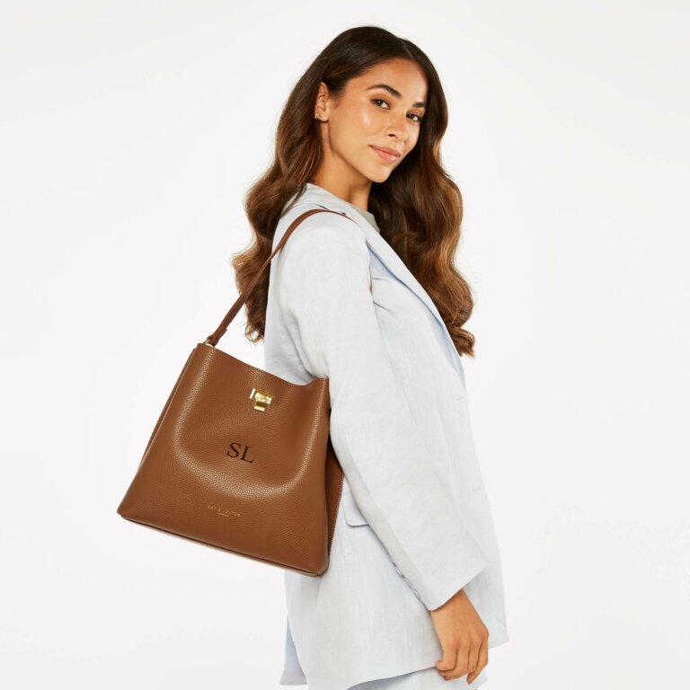 Reese Shoulder Bag in Cognac