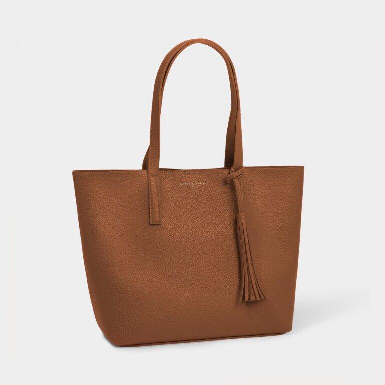 Tavi Tassel Tote Bag in Cognac