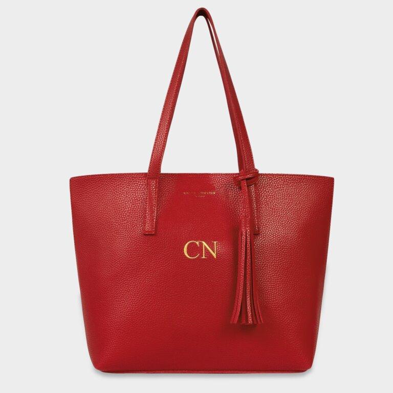 Tavi Tassel Tote Bag in Red