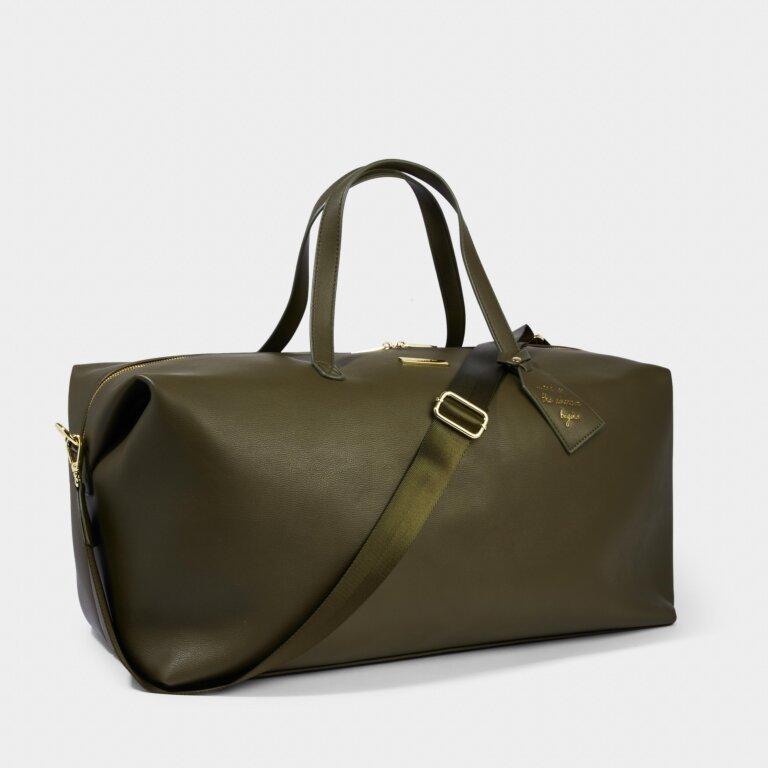 Weekend Holdall Bag in Khaki