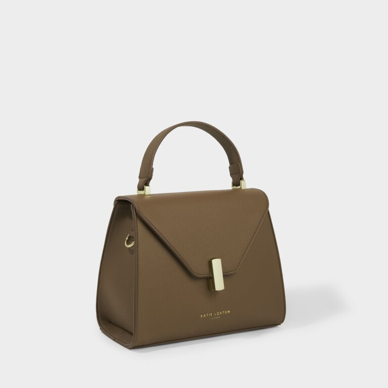 Casey Top Handle Bag Sustainable Style in Brown