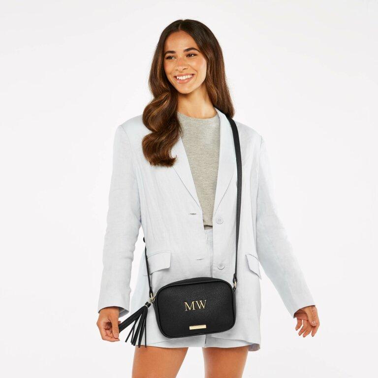 Sophia Tassel Bag Sustainable Style in Black