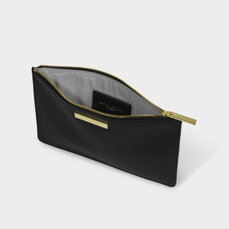 Soft Pebble Pouch Sustainable Style in Black