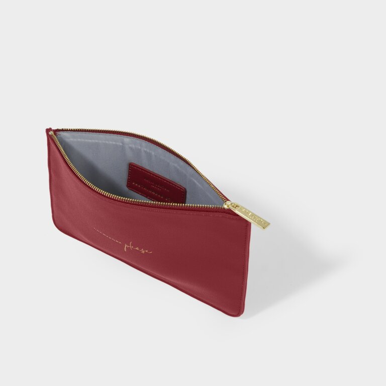 Perfect Pouch Sustainable Style Champagne Please in Red