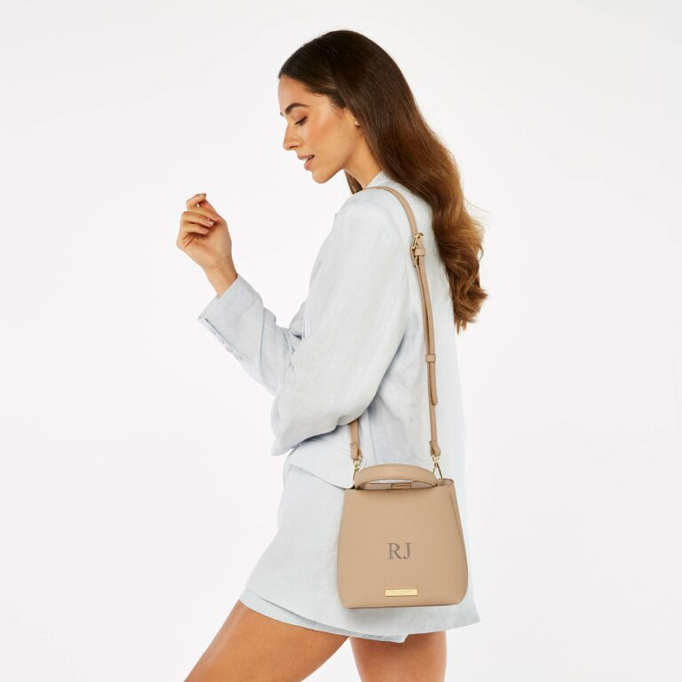 Lucie Crossbody Bag in Pale Pink