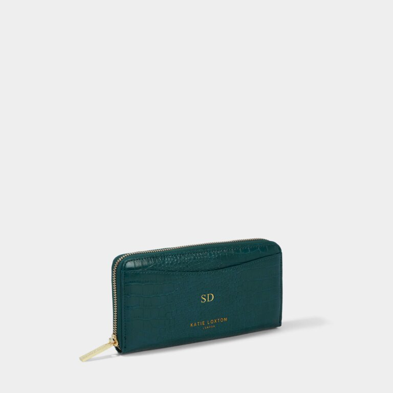 Cara Curve Purse in Forest Green