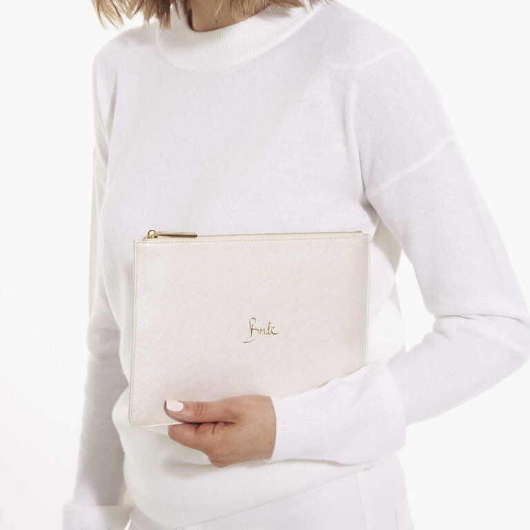 Perfect Pouch Bride In Pearlescent