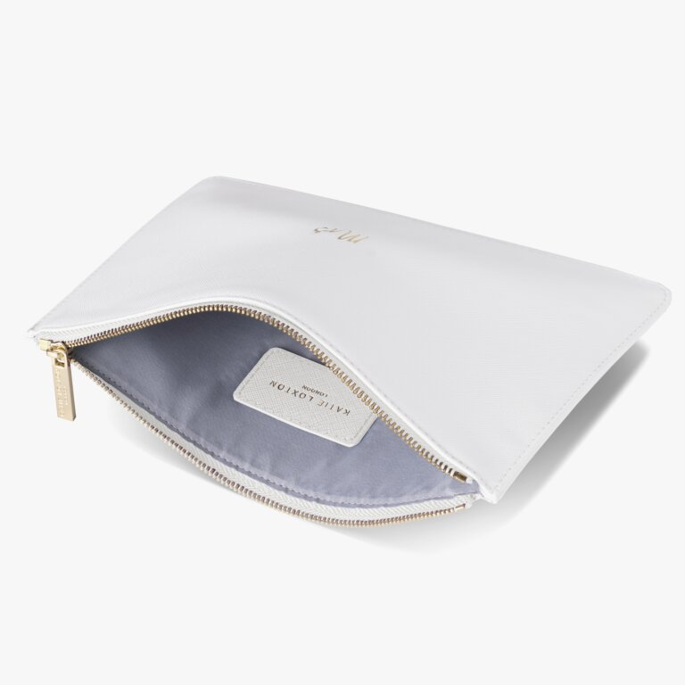 Perfect Pouch Mrs In White