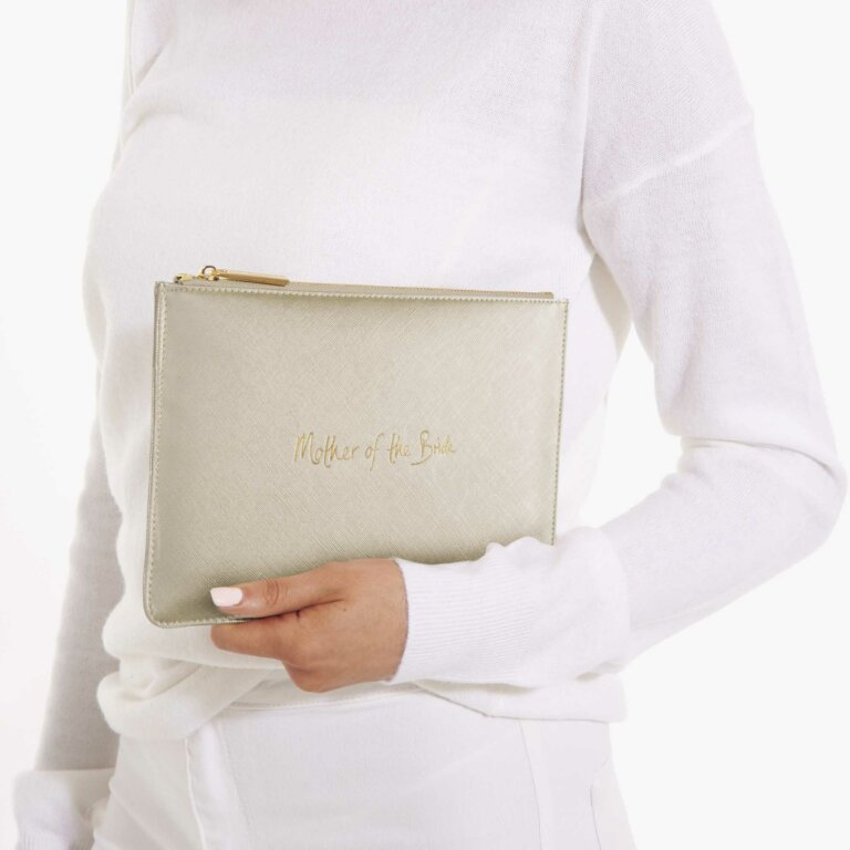 Perfect Pouch Mother Of The Bride In Metallic Gold
