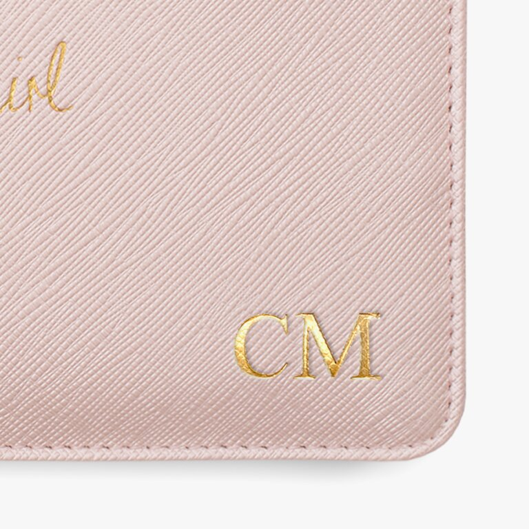 Mini Perfect Pouch Flower Girl In Metallic Pink